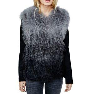 Maje Koice Fox Fur Jacket
